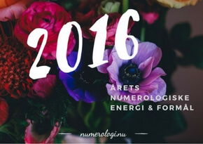 Numerologisk tema for 2016 - Millicentt Rosamunde