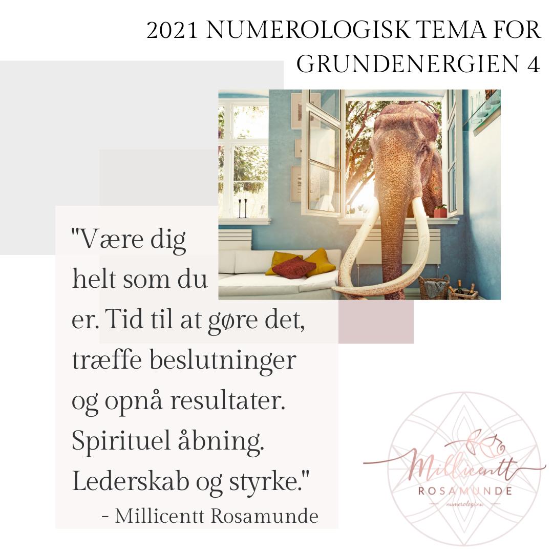 Numerologisk tema og energi i år 2021 - den klassiske numerologi - Millicentt Rosamunde