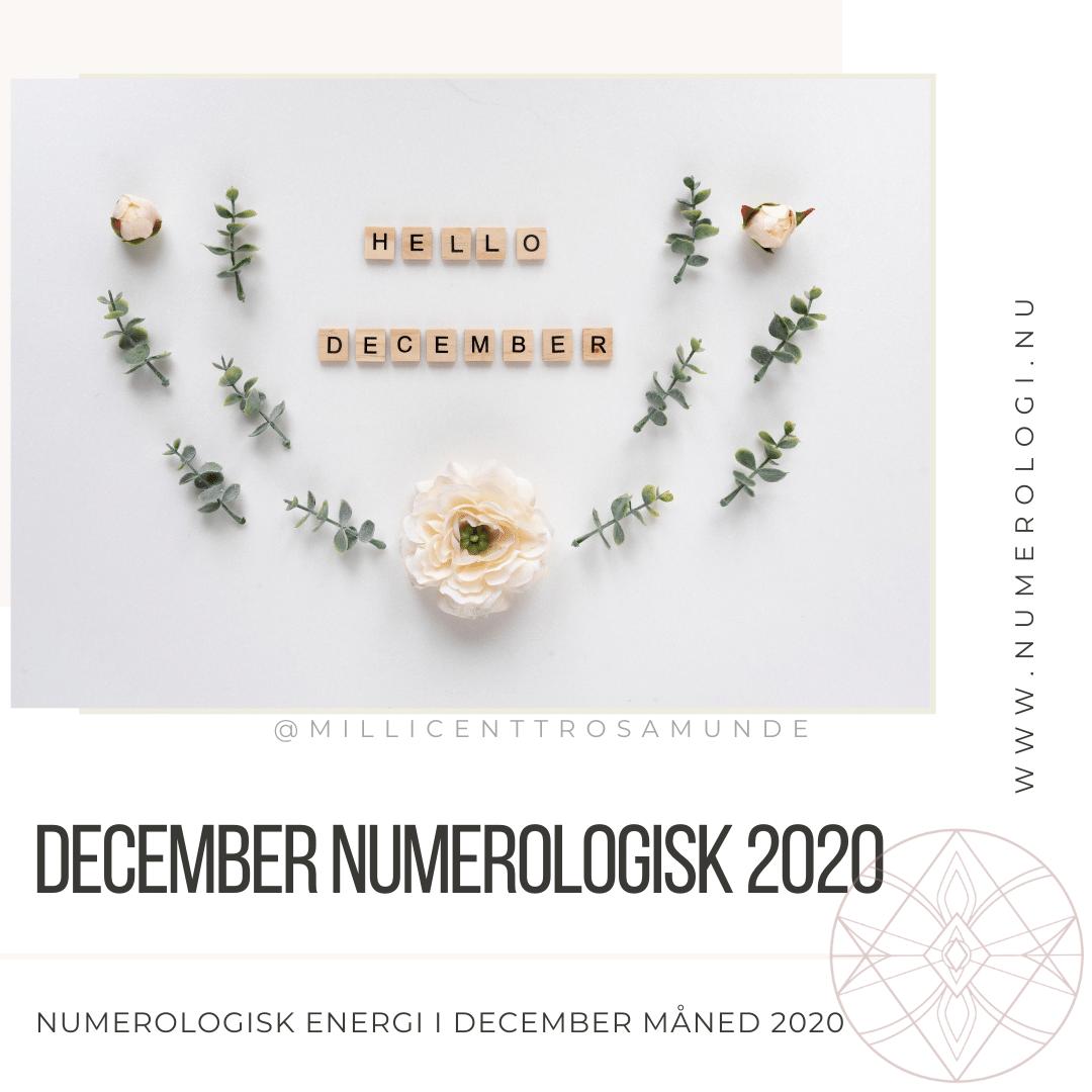 Numerologisk energi december måned 2020 - klassisk numerolog Millicentt Rosamunde