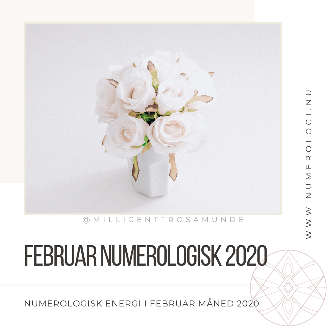Numerologisk energi i februar måned år 2020 - Numerolog psykolog Millicentt Rosamunde