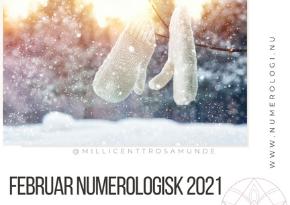 Numerologisk energi februar måned 2021 - klassisk numerolog Millicentt Rosamunde