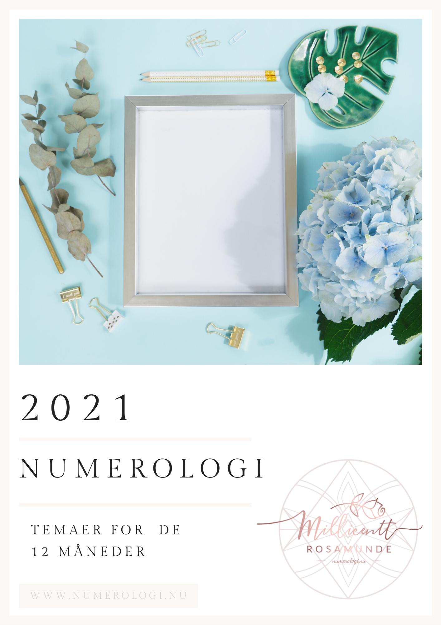 Numerologisk tema og energi i år 2021 - den klassiske numerologi - Millicentt Rosamunde Ét produkt pr. grundenergi.