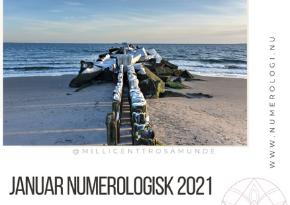 Numerologisk energi januar måned 2021 - klassisk numerolog Millicentt Rosamunde