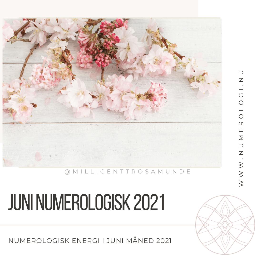 Numerologisk energi juni måned 2021 - klassisk numerolog Millicentt Rosamunde