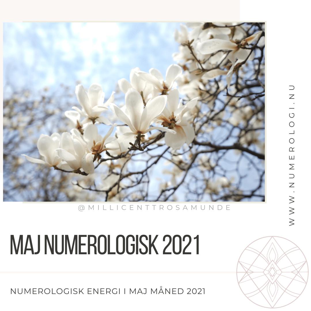 Numerologisk energi maj måned 2021 - klassisk numerolog Millicentt Rosamunde