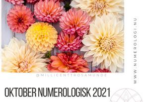 Numerologisk energi oktober måned 2021 - klassisk numerolog Millicentt Rosamunde