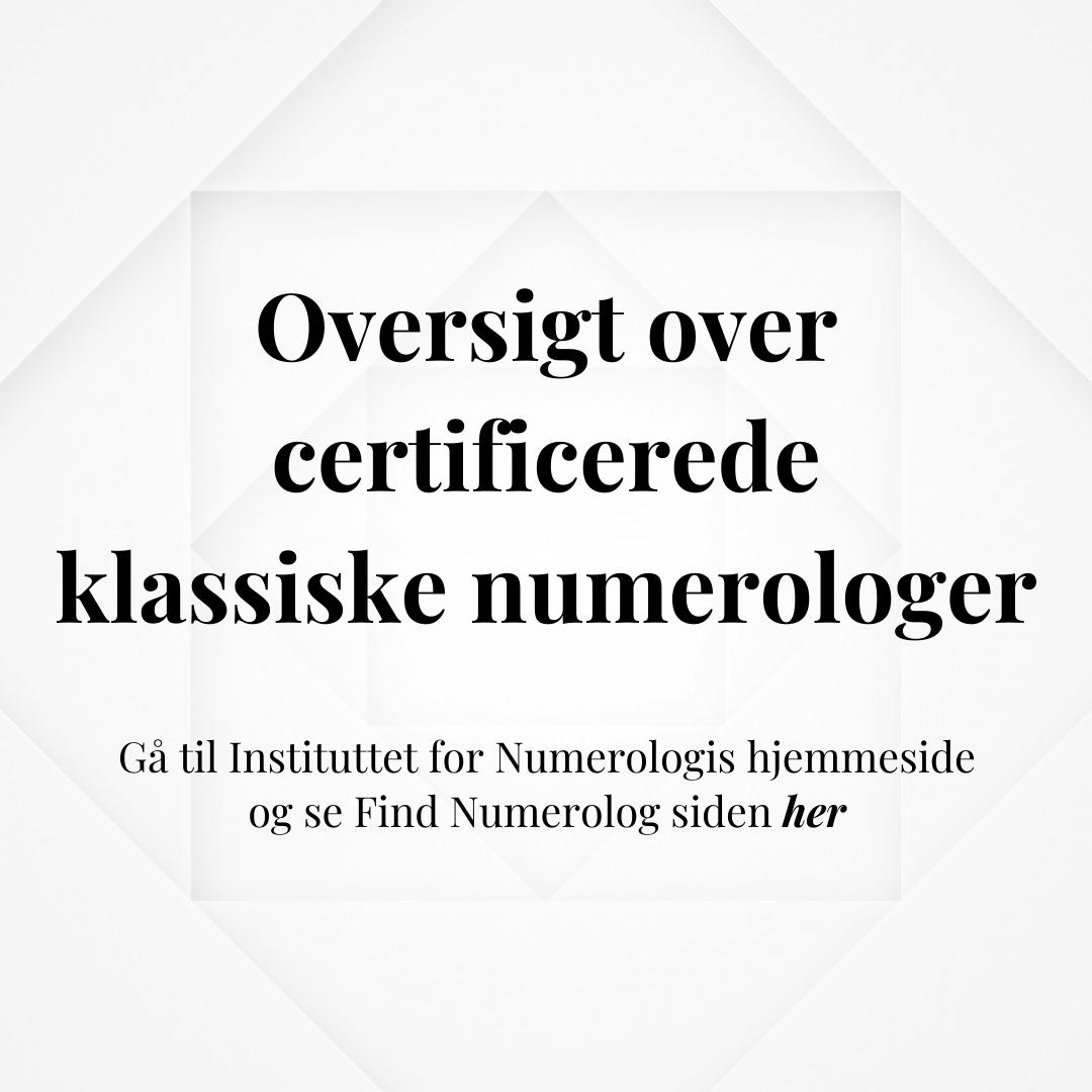 Find Klassisk Numerologi - Instituttet for Numerologi