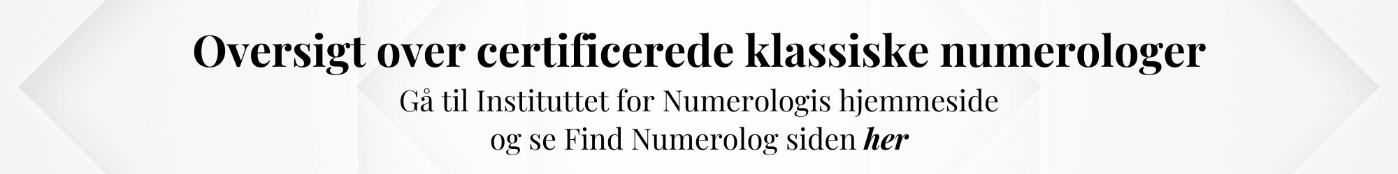 Den Klassiske Numerolog Uddannelse - Instituttet for Numerologi