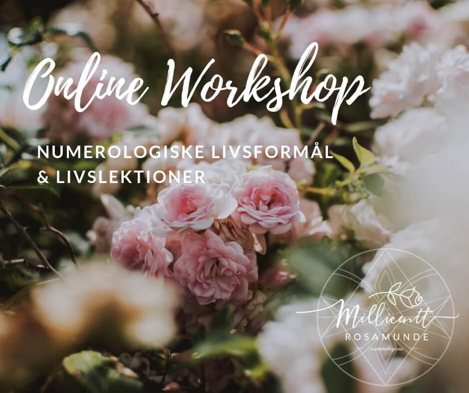 Online Workshop | De Numerologiske Livsformål & livslektioner med numerolog psykolog Millicentt Rosamunde